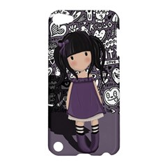 Dolly Girl In Purple Apple Ipod Touch 5 Hardshell Case by Valentinaart