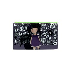 Dolly Girl In Purple Cosmetic Bag (xs) by Valentinaart