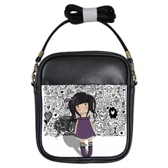 Dolly Girl In Purple Girls Sling Bags