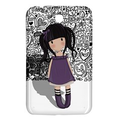 Dolly Girl In Purple Samsung Galaxy Tab 3 (7 ) P3200 Hardshell Case  by Valentinaart