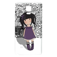 Dolly Girl In Purple Galaxy Note 4 Back Case by Valentinaart