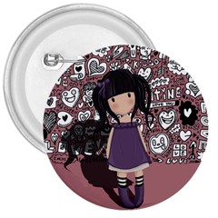 Dolly Girl In Purple 3  Buttons by Valentinaart