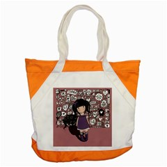 Dolly Girl In Purple Accent Tote Bag by Valentinaart
