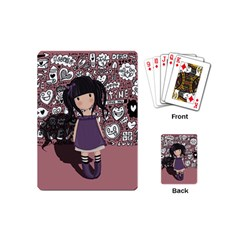 Dolly Girl In Purple Playing Cards (mini)  by Valentinaart