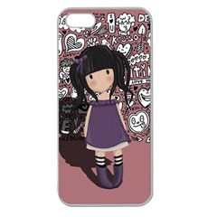 Dolly Girl In Purple Apple Seamless Iphone 5 Case (clear)