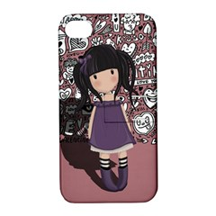 Dolly Girl In Purple Apple Iphone 4/4s Hardshell Case With Stand