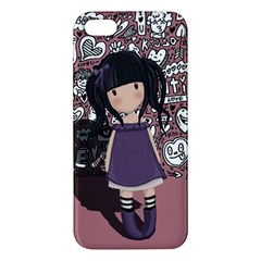 Dolly Girl In Purple Apple Iphone 5 Premium Hardshell Case