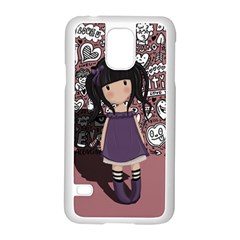 Dolly Girl In Purple Samsung Galaxy S5 Case (white) by Valentinaart