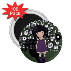 Dolly Girl In Purple 2 25  Magnets (100 Pack)