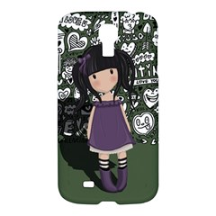 Dolly Girl In Purple Samsung Galaxy S4 I9500/i9505 Hardshell Case by Valentinaart