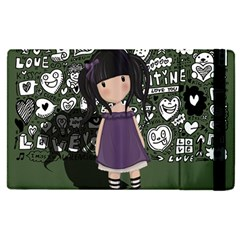 Dolly Girl In Purple Apple Ipad Pro 9 7   Flip Case by Valentinaart
