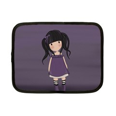 Dolly Girl In Purple Netbook Case (small)  by Valentinaart