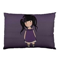 Dolly Girl In Purple Pillow Case by Valentinaart
