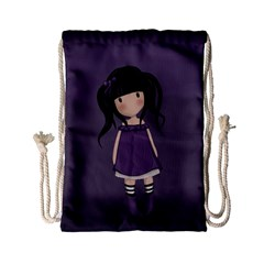 Dolly Girl In Purple Drawstring Bag (small) by Valentinaart