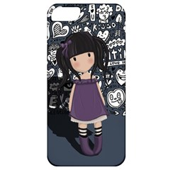 Dolly Girl In Purple Apple Iphone 5 Classic Hardshell Case by Valentinaart