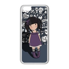Dolly Girl In Purple Apple Iphone 5c Seamless Case (white) by Valentinaart