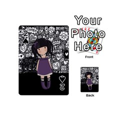 Dolly Girl In Purple Playing Cards 54 (mini)  by Valentinaart