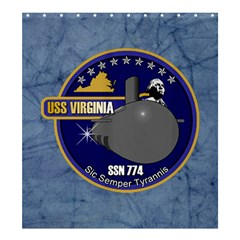 Uss Virginia ( Ssn 774 ) Crest Shower Curtain 66  X 72  (large) by allthingseveryday
