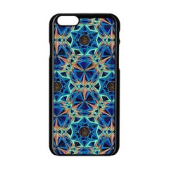 Diamond Star Blue 01 Apple Iphone 6/6s Black Enamel Case by Cveti