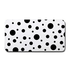 Black On White Polka Dot Pattern Medium Bar Mats by LoolyElzayat