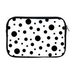 Black On White Polka Dot Pattern Apple Macbook Pro 17  Zipper Case