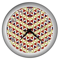 Flower Of Life Pattern 4 Wall Clocks (silver)  by Cveti