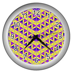 Flower Of Life Pattern 5 Wall Clocks (silver)  by Cveti