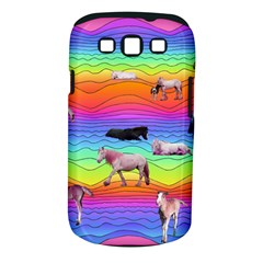 Horses In Rainbow Samsung Galaxy S Iii Classic Hardshell Case (pc+silicone) by CosmicEsoteric