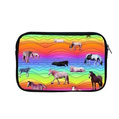 Horses In Rainbow Apple Macbook Pro 13  Zipper Case by CosmicEsoteric