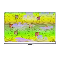 Cows And Clouds In The Green Fields Business Card Holders by CosmicEsoteric