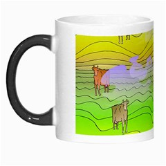 Cows And Clouds In The Green Fields Morph Mugs by CosmicEsoteric