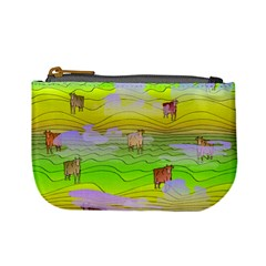 Cows And Clouds In The Green Fields Mini Coin Purses by CosmicEsoteric