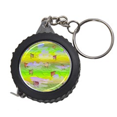 Cows And Clouds In The Green Fields Measuring Tape by CosmicEsoteric