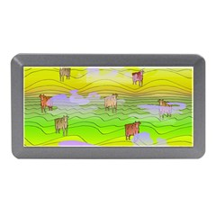 Cows And Clouds In The Green Fields Memory Card Reader (mini) by CosmicEsoteric