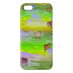 Cows And Clouds In The Green Fields Iphone 5s/ Se Premium Hardshell Case by CosmicEsoteric