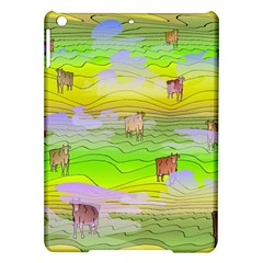 Cows And Clouds In The Green Fields Ipad Air Hardshell Cases by CosmicEsoteric