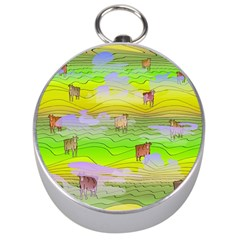 Cows And Clouds In The Green Fields Silver Compasses by CosmicEsoteric