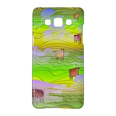 Cows And Clouds In The Green Fields Samsung Galaxy A5 Hardshell Case  by CosmicEsoteric
