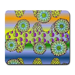 Amoeba Flowers Large Mousepads by CosmicEsoteric