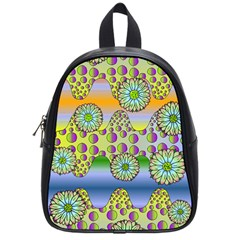 Amoeba Flowers School Bag (small) by CosmicEsoteric