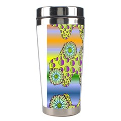 Amoeba Flowers Stainless Steel Travel Tumblers by CosmicEsoteric
