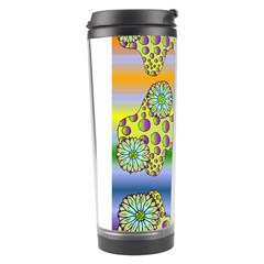 Amoeba Flowers Travel Tumbler by CosmicEsoteric