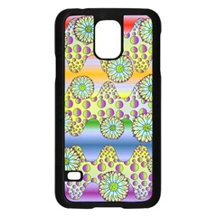 Amoeba Flowers Samsung Galaxy S5 Case (black) by CosmicEsoteric