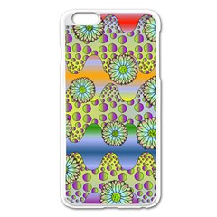 Amoeba Flowers Apple Iphone 6 Plus/6s Plus Enamel White Case by CosmicEsoteric