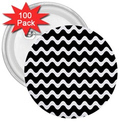 Wave Pattern Wavy Halftone 3  Buttons (100 Pack)  by Celenk