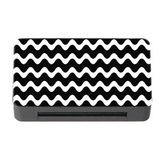 Wave Pattern Wavy Halftone Memory Card Reader With Cf