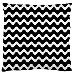 Wave Pattern Wavy Halftone Large Cushion Case (two Sides) by Celenk