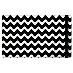 Wave Pattern Wavy Halftone Apple Ipad 2 Flip Case by Celenk