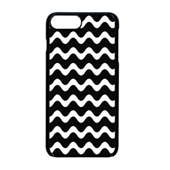 Wave Pattern Wavy Halftone Apple Iphone 8 Plus Seamless Case (black) by Celenk
