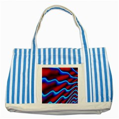 Wave Pattern Background Curve Striped Blue Tote Bag